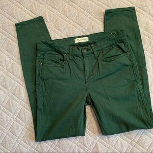 🆕🦋 Madewell Green Mid-Rise Skinny Skinny Pants
